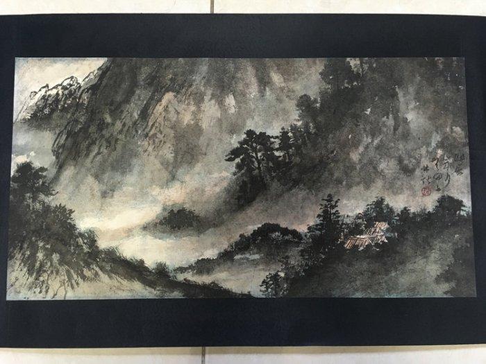 林鍇 山居歲月圖 水墨紙本鏡片(朋友前期看好,後面不知原因沒有入手,10000台幣)